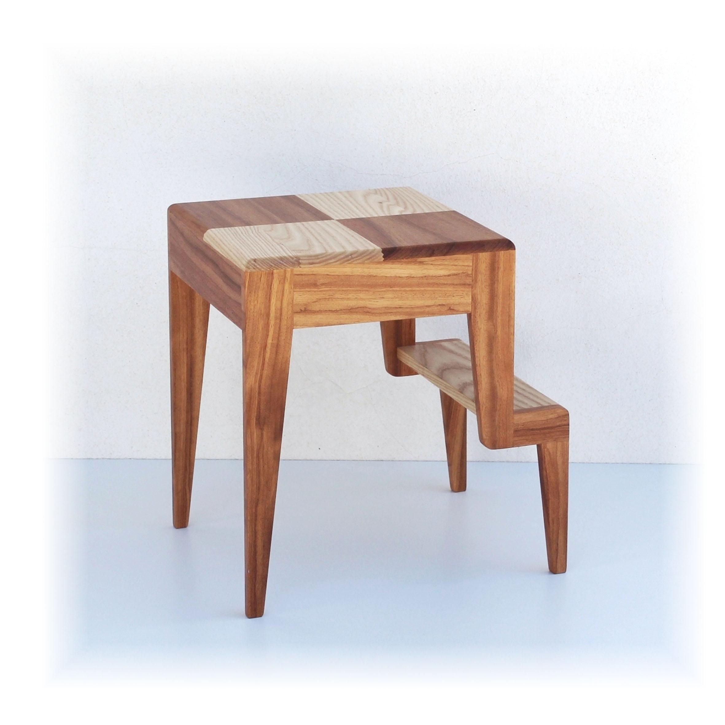Sgabello Scaletta Design.Duegradini Simply Wood