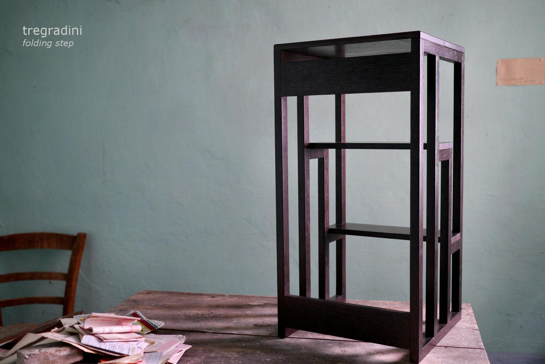 Scala a due gradini in legno: xin stool sgabello in legno massello